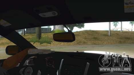 2008 Subaru WRX Widebody L3D para visión interna GTA San Andreas