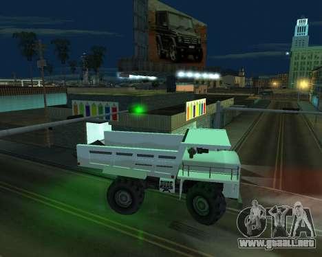 Pintar el garaje para GTA San Andreas sucesivamente de pantalla