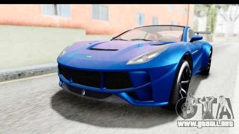 GTA 5 Dewbauchee Seven 70 para la visión correcta GTA San Andreas