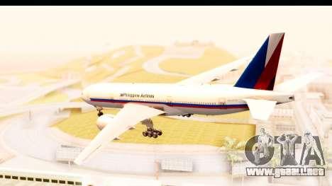 Boeing 777-200LR Philippine Airline Retro Livery para GTA San Andreas left