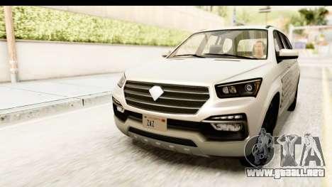 GTA 5 Benefactor XLS SA Style para vista inferior GTA San Andreas