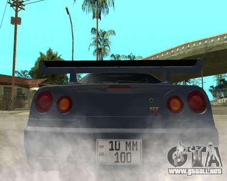 Nissan Skyline Armenia para GTA San Andreas vista posterior izquierda