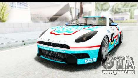 GTA 5 Ocelot Lynx IVF para GTA San Andreas interior