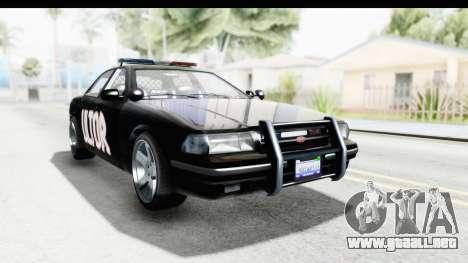 Vapid ULTOR Police Cruiser para la visión correcta GTA San Andreas