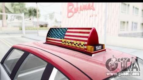 GTA 5 Canis Seminole Downtown Cab Co. Taxi para visión interna GTA San Andreas