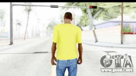 Adidas Thor T-Shirt para GTA San Andreas tercera pantalla