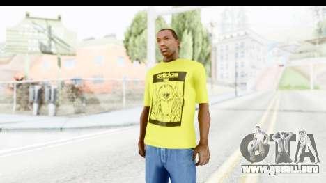 Adidas Thor T-Shirt para GTA San Andreas segunda pantalla