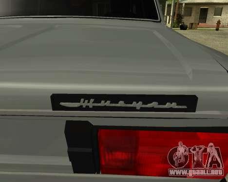 VAZ 2106 armenia para GTA San Andreas interior