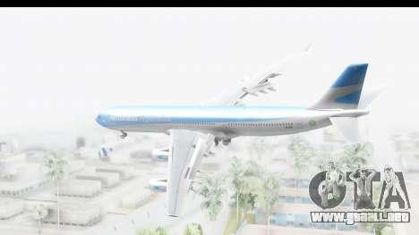 Airbus A340-300 Aerolineas Argentinas para GTA San Andreas left
