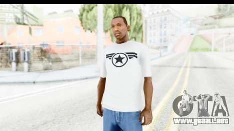 Captain America White T-Shirt para GTA San Andreas