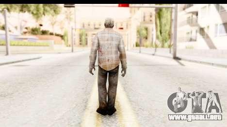 Left 4 Dead 2 - Zombie Shirt 2 para GTA San Andreas tercera pantalla