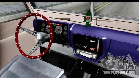 Land Rover Pickup Series3 para visión interna GTA San Andreas