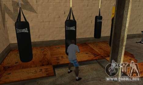 Saco de boxeo LonsDale para GTA San Andreas tercera pantalla