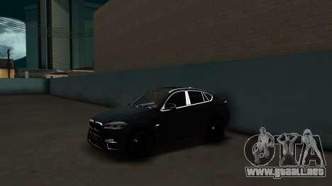 BMW X6M Bulkin Edition para GTA San Andreas vista posterior izquierda