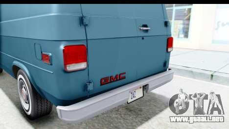 GMC Vandura 1985 White Stripes IVF para GTA San Andreas interior