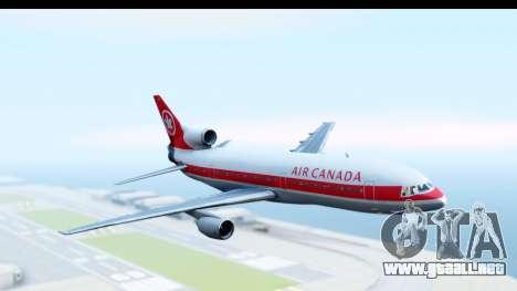 Lockheed L-1011-100 TriStar Air Canada para GTA San Andreas vista posterior izquierda