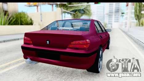 Peugeot 406 Light Tuning para GTA San Andreas vista posterior izquierda