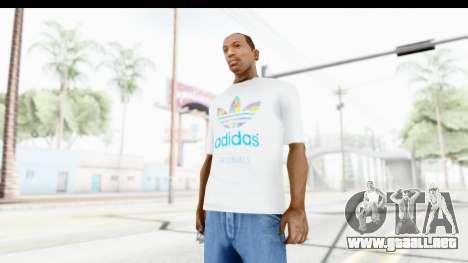 Adidas White T-Shirt para GTA San Andreas segunda pantalla