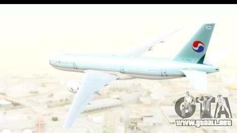 Boeing 777-200ER Korean Air para la visión correcta GTA San Andreas