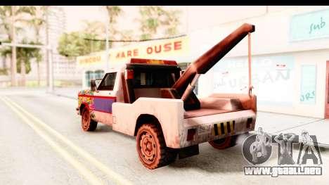 Towtruck Sticker Bomb para GTA San Andreas left