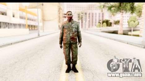 Left 4 Dead 2 - Zombie Military para GTA San Andreas segunda pantalla