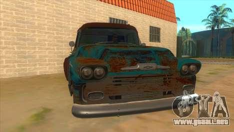 Chevrolet Apache para GTA San Andreas vista hacia atrás