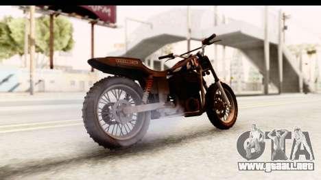 GTA 5 Western Cliffhanger Custom v2 IVF para GTA San Andreas vista posterior izquierda