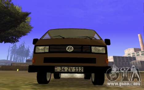 Volkswagen Transporter T-3 Armenian para GTA San Andreas left