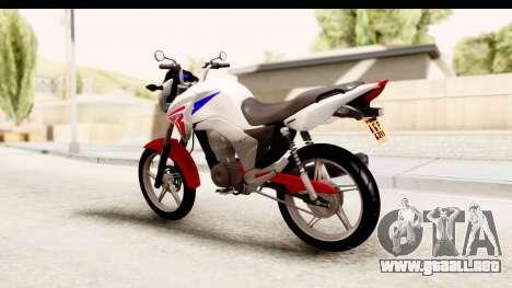 Honda CG150 para GTA San Andreas left