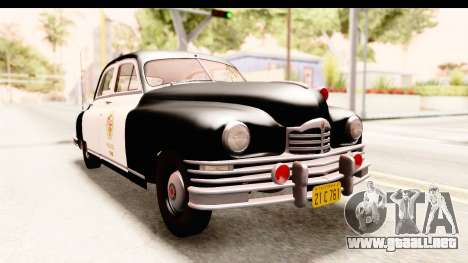 Packard Standart Eight 1948 Touring Sedan LAPD para la visión correcta GTA San Andreas