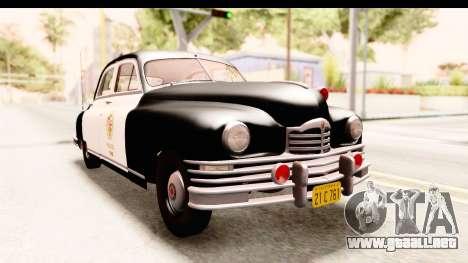 Packard Standart Eight 1948 Touring Sedan LAPD para la visión correcta GTA San Andreas
