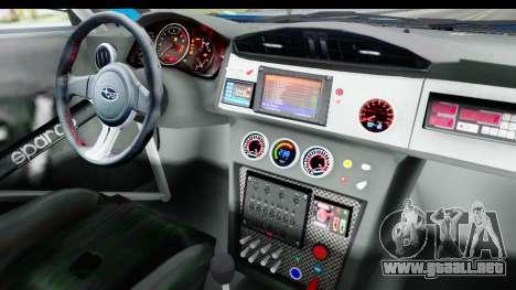 Subaru BRZ Rally para visión interna GTA San Andreas