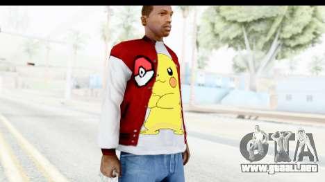 Jacket Pokemon Pokeball para GTA San Andreas tercera pantalla