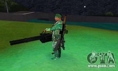 M134 MINIGUN BLACK para GTA San Andreas tercera pantalla