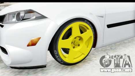 Renault Megane para GTA San Andreas vista hacia atrás