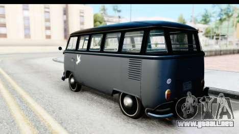 Volkswagen Transporter T1 Deluxe Bus para GTA San Andreas left