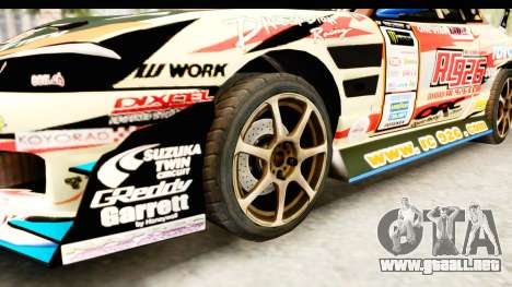 D1GP Nissan Silvia RC926 Toyo Tires para GTA San Andreas vista hacia atrás