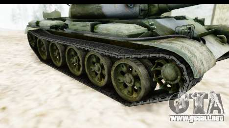 T-62 Wood Camo v2 para visión interna GTA San Andreas