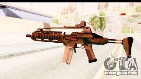 SCAR-LK Green para GTA San Andreas segunda pantalla
