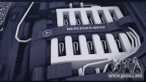 Mercedes-Benz W140 para visión interna GTA San Andreas