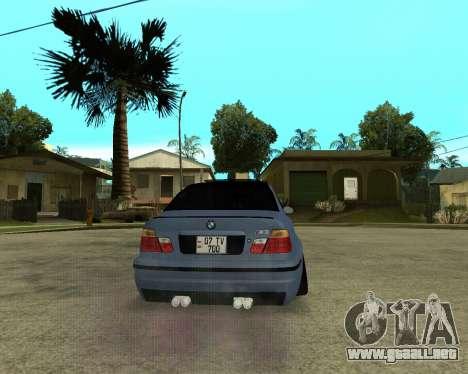 BMW M3 Armenian para visión interna GTA San Andreas