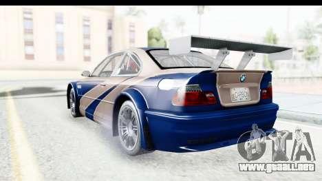 NFS Carbon - BMW M3 GTR para la visión correcta GTA San Andreas