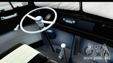 Volkswagen Transporter T1 Deluxe Bus para GTA San Andreas vista hacia atrás