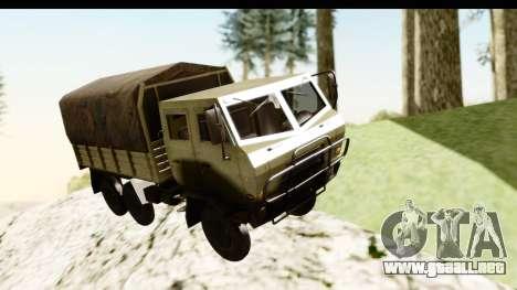 Dongfeng SX Military Truck para GTA San Andreas vista posterior izquierda