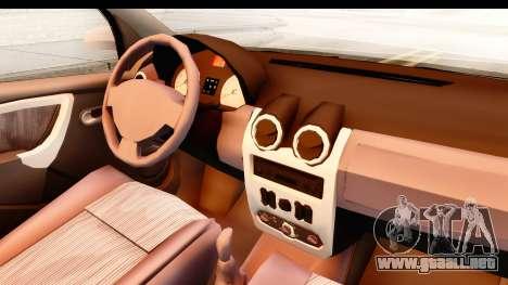 Dacia Logan Facelift Ambulanta v2 para visión interna GTA San Andreas