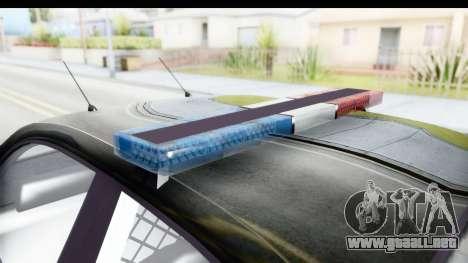 Vapid ULTOR Police Cruiser para visión interna GTA San Andreas