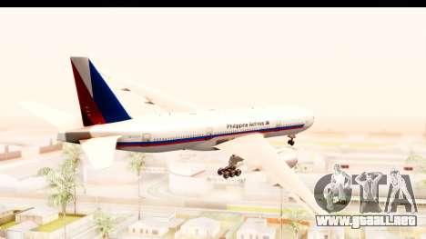 Boeing 777-200LR Philippine Airline Retro Livery para la visión correcta GTA San Andreas