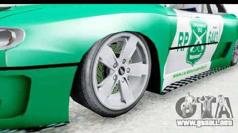 Pontiac GTO 2006 Carabineros De Chile para GTA San Andreas vista hacia atrás