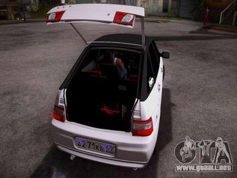 VAZ 2112 GVR calidad para la visión correcta GTA San Andreas