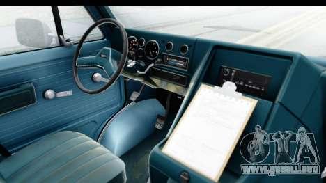 GMC Vandura 1985 White Stripes IVF para visión interna GTA San Andreas